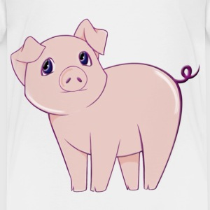 Cute little piggy art t-shirt - Toddler Premium T-Shirt