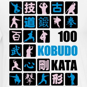 2016 100 Kobudo Kata panel wht/blu - Men's Premium T-Shirt