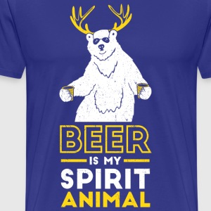 Beer is my spirit Animal - Men's Premium T-Shirt