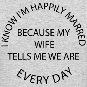 Happily Married Husband - Men's Long Sleeve T-Shirt by Next Level