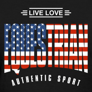 Live Love Equestrian US - Women's T-Shirt