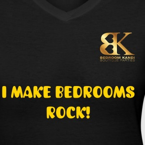 Make Bedroom Rock - Women's V-Neck T-Shirt
