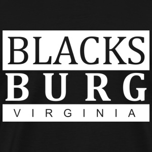 Blacksburg, VA White - Men's Premium T-Shirt