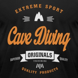 Cave Diving T-shirt - Men's T-Shirt by American Apparel