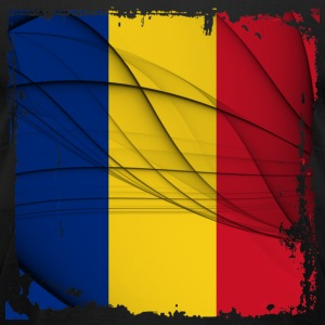 Romania Flag T-shirt - Men's T-Shirt by American Apparel
