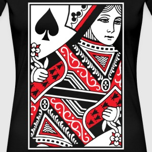Queen of Spades Women's T-Shirts - Women's Premium T-Shirt