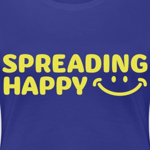 Women's Spreading Happy Blue T-Shirt - Women's Premium T-Shirt