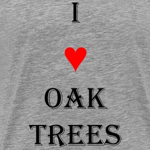 I heart Oak trees - Men's Premium T-Shirt