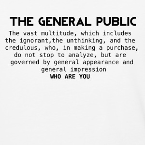 the general public - Baseball T-Shirt
