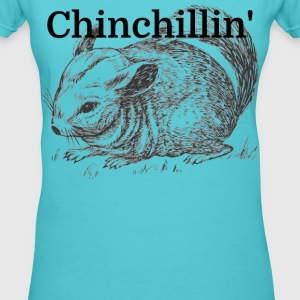 Chinchillin' - Women's V-Neck T-Shirt