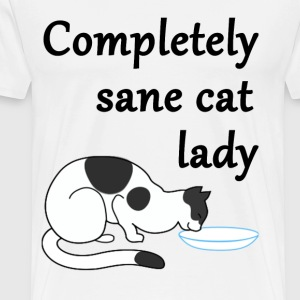 Completely Sane Cat Lady - Men's Premium T-Shirt