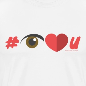 Hashtag I heart you - Men's Premium T-Shirt