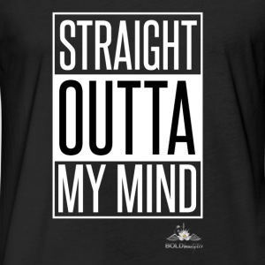 Outta My Mind - Fitted Cotton/Poly T-Shirt by Next Level