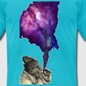 Puff the Galaxy - Men's T-Shirt by American Apparel