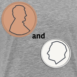 Penny and a Dime - Men's Premium T-Shirt