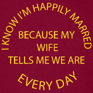 Happily Married Husband - Men's - Men's T-Shirt