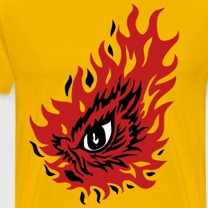 FIERY EYE GRAPHIC TEE  - Men's Premium T-Shirt