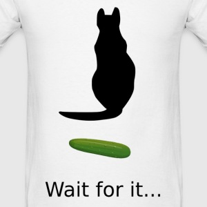 Cat Cucumber - Men's T-Shirt