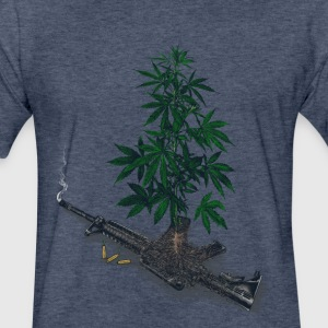 Casualties of Weed  - Fitted Cotton/Poly T-Shirt by Next Level