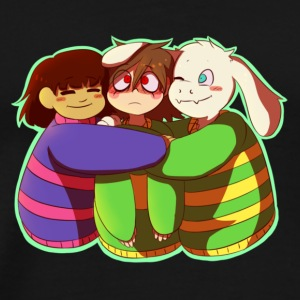 Undertale Asriel and Frisk Hugging Chara T-Shirt - Men's Premium T-Shirt