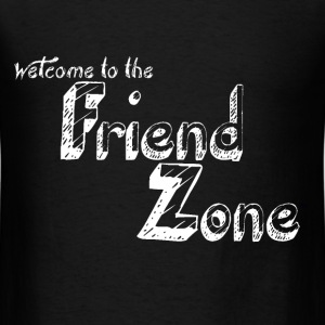 FriendZone T-Shirt White on Back - Men's T-Shirt