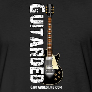 Guitarded T-Shirt Blk Guitar - Fitted Cotton/Poly T-Shirt by Next Level