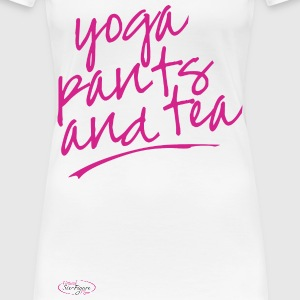 Yoga Pants and Tea Shirt - Women's Premium T-Shirt