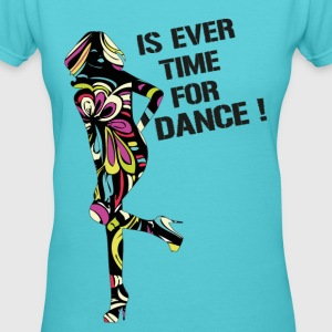 Rainbow_ Is Ever Time for Dance _ Women'sT-Shirt - Women's V-Neck T-Shirt