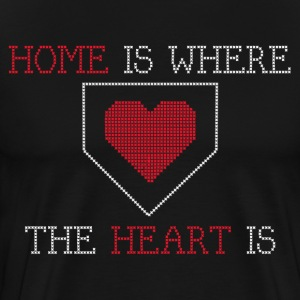 Home is Where the Heart is - Black - Men's Premium T-Shirt