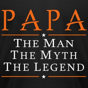 papa the man the myth legend t-shirt - Men's T-Shirt by American Apparel