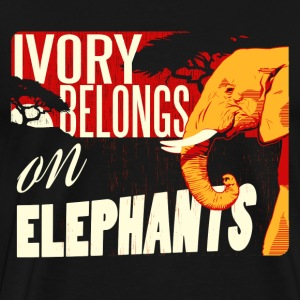Ivory Belongs on Elephants design by Calico Dragon - Men's Premium T-Shirt
