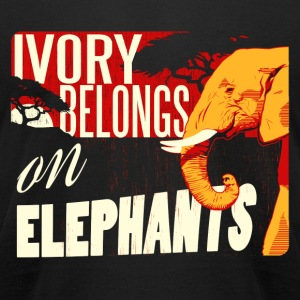 Ivory Belongs on Elephants design by Calico Dragon - Men's T-Shirt by American Apparel