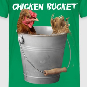 Chicken Bucket Toddler Green T-Shirt - Toddler Premium T-Shirt