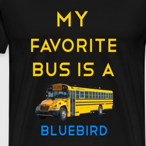 My favoreite bus is a bluebird - Dillon Rathan - Men's Premium T-Shirt