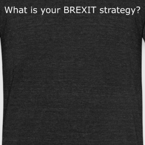 What is your BREXIT strategy? - Unisex Tri-Blend T-Shirt by American Apparel