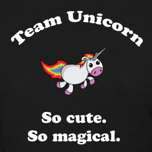 Team Unicorn So Cute - Womens T White Font - Women's T-Shirt