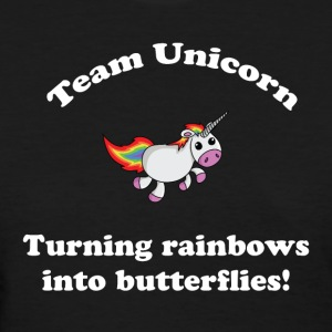 Team Unicorn Rainbows - Womens T White Font - Women's T-Shirt