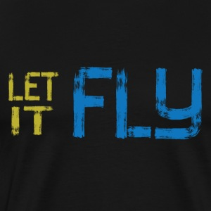 Ultimate Frisbee T-Shirt: Let It Fly - Men's Premium T-Shirt