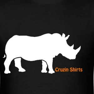 Mens T-Shirt: Cruzin Rhino - Men's T-Shirt