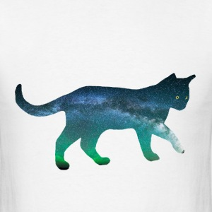 Mens T-Shirt: Aurora Cat - Men's T-Shirt