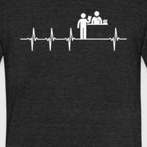 Librarian Job Heartbeat Love - Unisex Tri-Blend T-Shirt by American Apparel