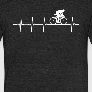 Mountain Biking Heartbeat Love - Unisex Tri-Blend T-Shirt by American Apparel