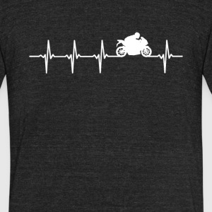 Motor Sport Heartbeat Love - Unisex Tri-Blend T-Shirt by American Apparel
