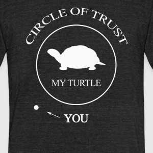 Funny Turtle Pet - Unisex Tri-Blend T-Shirt by American Apparel