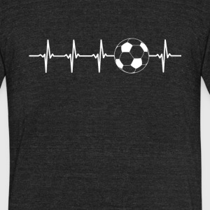 Soccer Football Sport Heartbeat Love - Unisex Tri-Blend T-Shirt by American Apparel