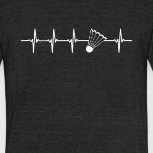 Badminton Sport Heartbeat Love - Unisex Tri-Blend T-Shirt by American Apparel