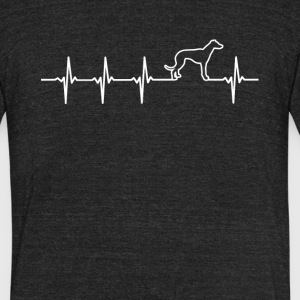 Greyhound Dog Heartbeat Love - Unisex Tri-Blend T-Shirt by American Apparel