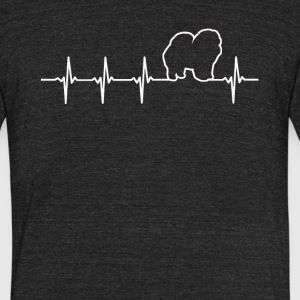 Chow Chow Dog Heartbeat Love - Unisex Tri-Blend T-Shirt by American Apparel
