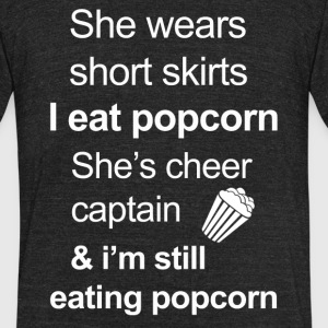 Funny Popcorn Lover - Unisex Tri-Blend T-Shirt by American Apparel