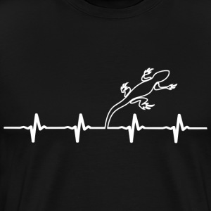 Lizard Owners Heartbeat - Men's Premium T-Shirt
